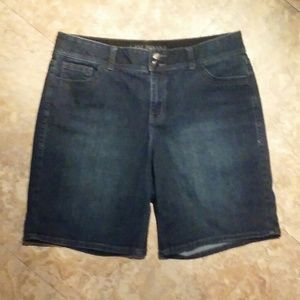 Lane Bryant denim bermuda shorts, size 16